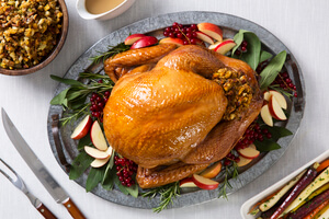 Apple Stuffed Turkey with Glaze