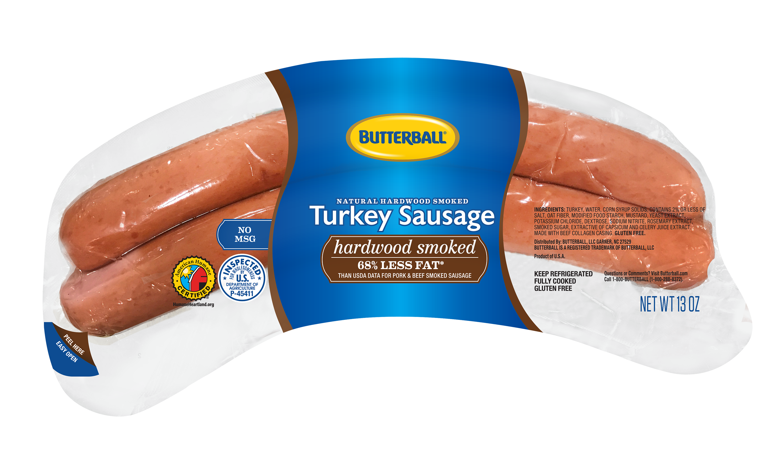 Hardwood Smoked Turkey Sausage product package