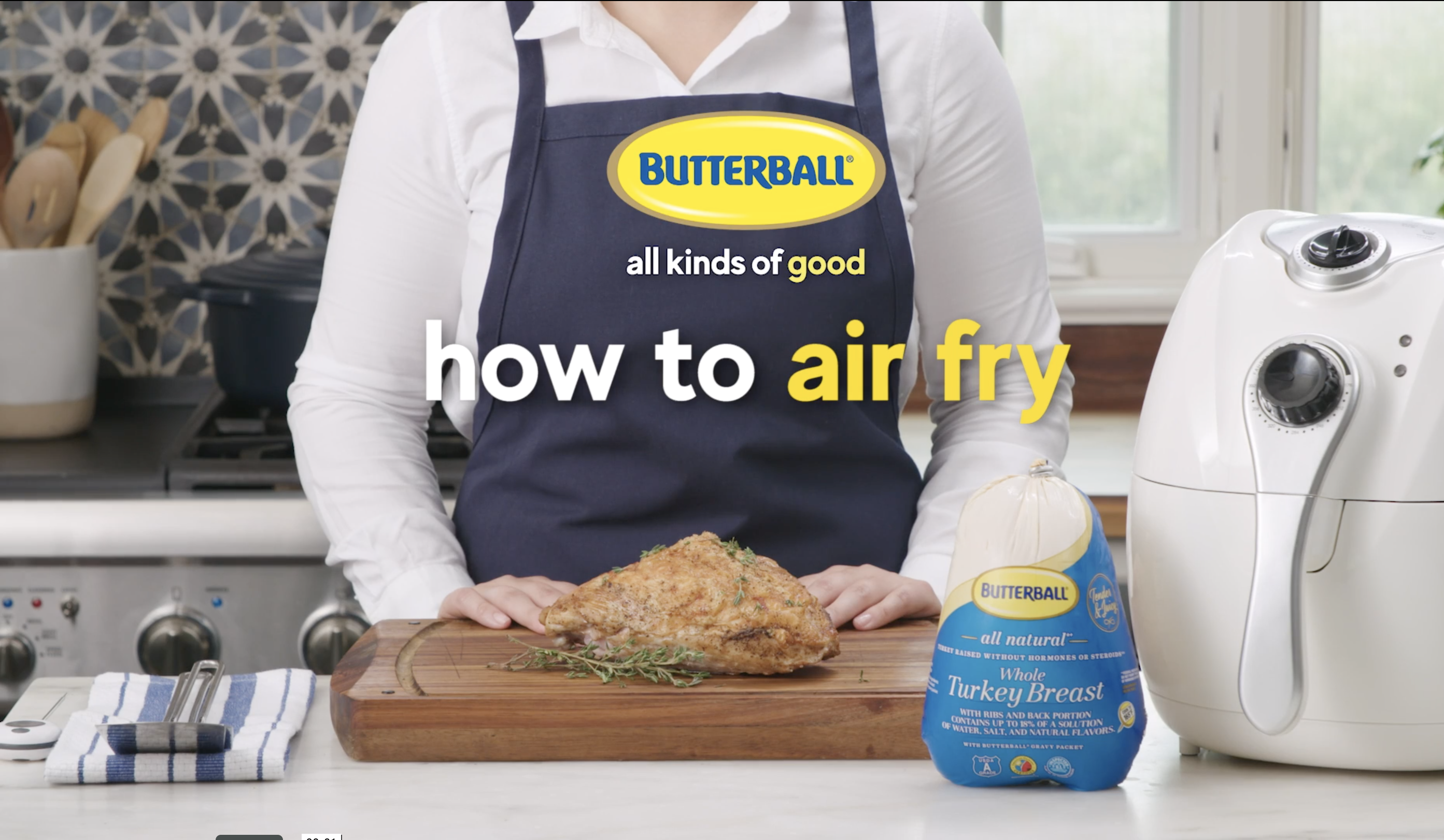 Butterball How to air fry video thumbnail