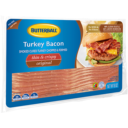 Thin & Crispy Turkey Bacon Package