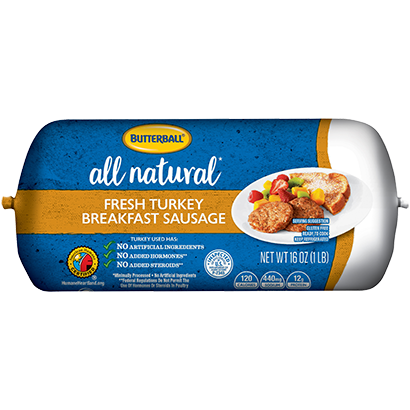 Butterball All Natural Fresh Breakfast Sausage Package