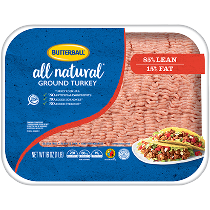 Fresh All Natural Ground Turkey 85/15 Package