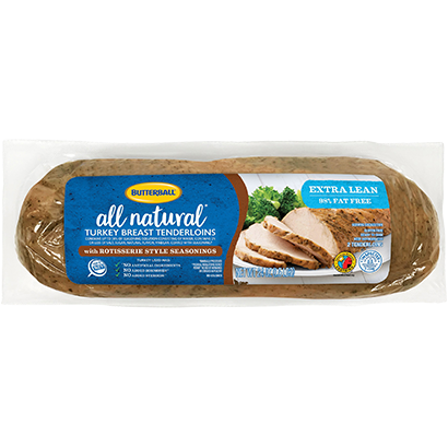 All Natural Rotisserie Turkey Breast Tenderloins Package