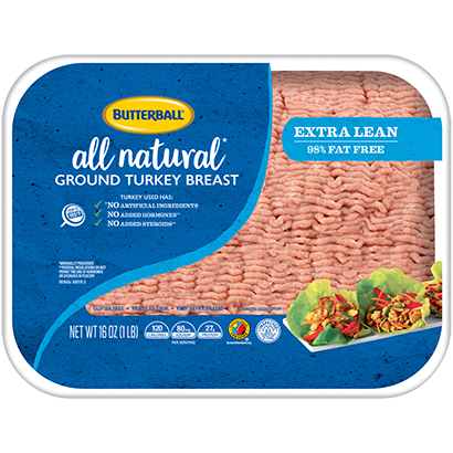 Fresh All Natural Extra Lean Ground Turkey Breast 98/2 Package