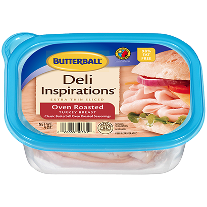 Deli Inspirations™ Oven Roasted Turkey Breast - Extra Thin Sliced Package