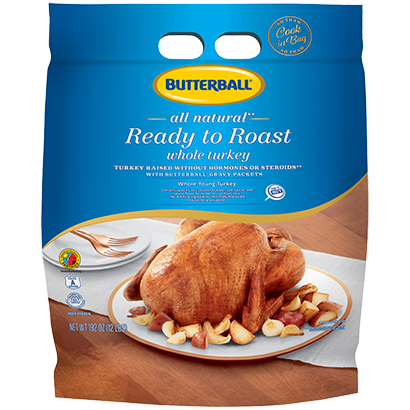 Ready to Roast All Natural Whole Turkey Package