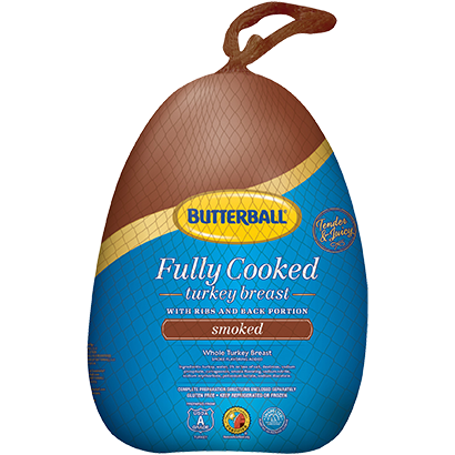 Fully Cooked Smoked Whole Turkey Breast Package