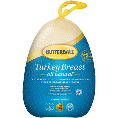 Frozen Whole Turkey Breast Package