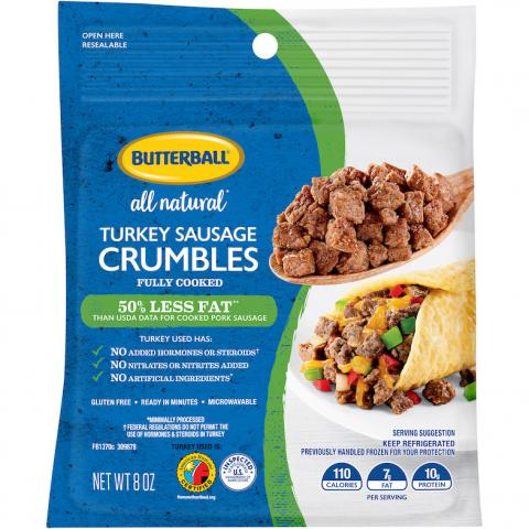 Butterball All Natural Turkey Sausage Crumbles Package